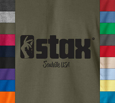 STAX SOULVILLE T-Shirt Retro Vintage Music Label Soul Funk Breaks Motown USA Tee
