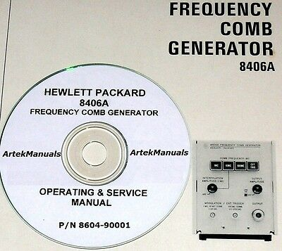 Hewlett Packard Operating Service Manual For 8406a Frequency Comb Generator