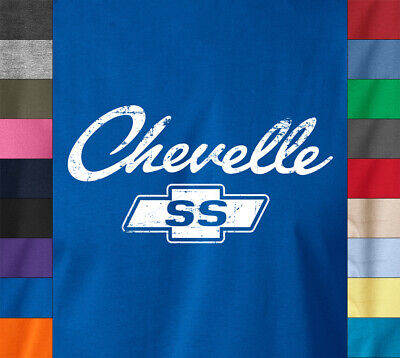 CHEVELLE SS Logo T-Shirt Chevy Chevrolet Classic American Muscle Car Hot Rod Tee