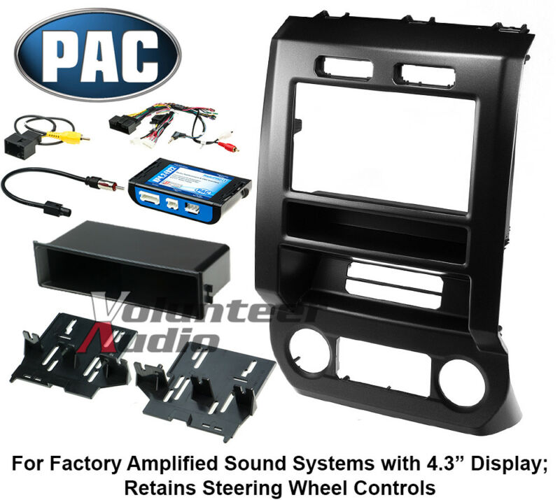 "2015-2016 F150 + 2017 F250 with 4.3"" Display Complete Radio Mount Kit"