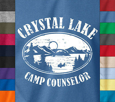 Friday the 13th Camp CRYSTAL LAKE T-Shirt Horror Movie Jason Ringspun Cotton Tee
