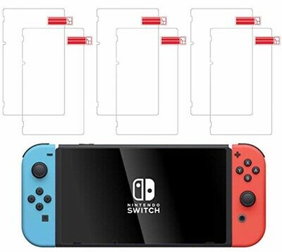 (6 Pack) Nintendo Switch amFilm Premium Tempered Glass Screen Protector