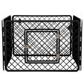 Dog playpen/crate/Iris Ohyama enclosure 4 elements/ Pet Circle H-604/Plastic, Black