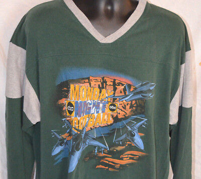 Vtg Rare Abc Monday Night Football Jersey T Shirt Tee Nfl Promo Throwback Xl