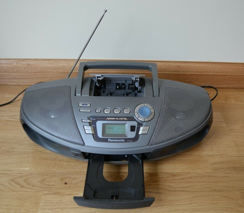 Panasonic portable stereo: CD/cassette player and FM radio | in Melbourn,  Cambridgeshire | Gumtree