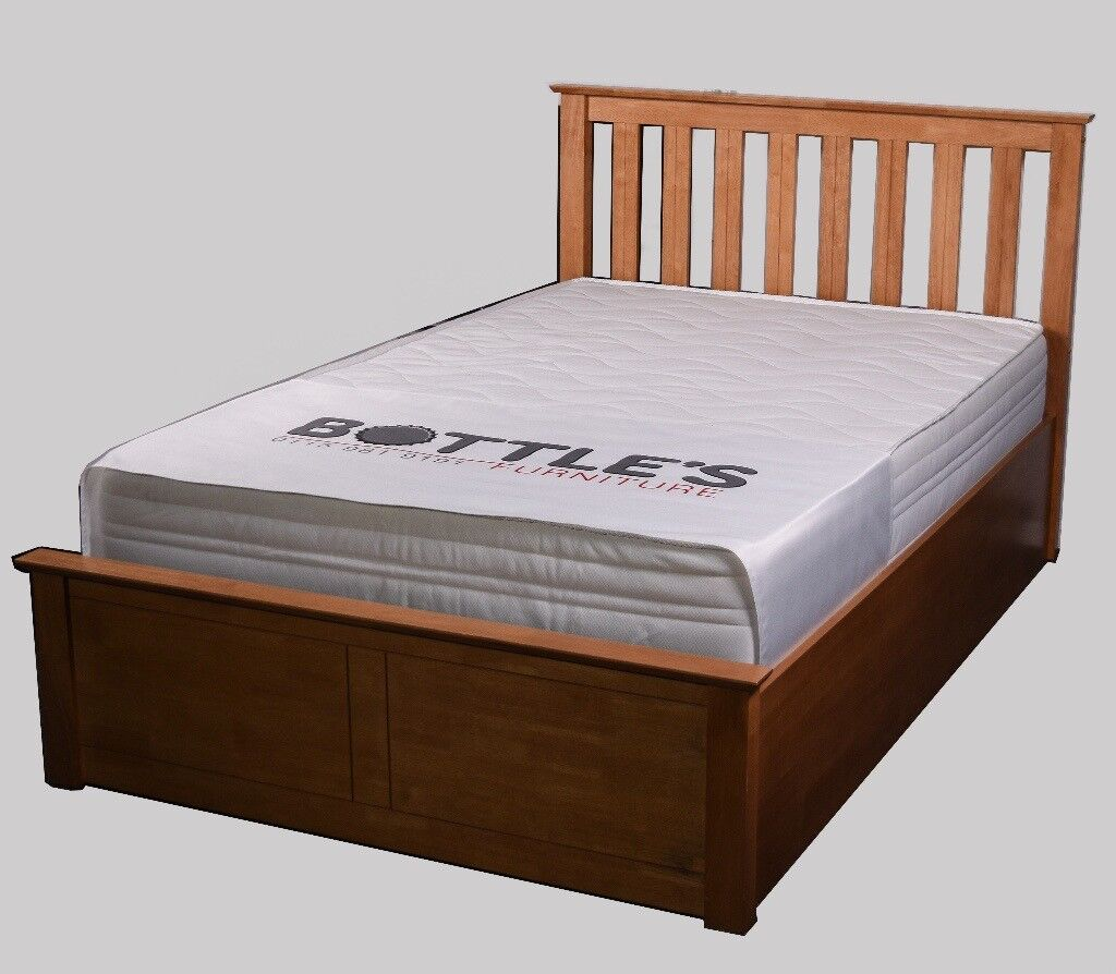 Solid wooden storage bed - Small double and double