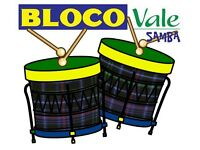 For an EVENT or FESTIVAL hire Bloco Vale Samba Drumming Group Available For Parades Carnivals Gigs