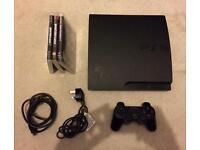 PlayStation 3 slim 160gb console bundle - 3 games inc GTA V