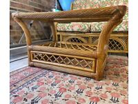 Glass Topped Rattan Coffee Table