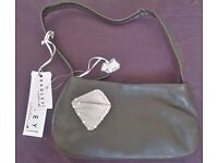 Radley handbag, leather, dark brown with dog tag.