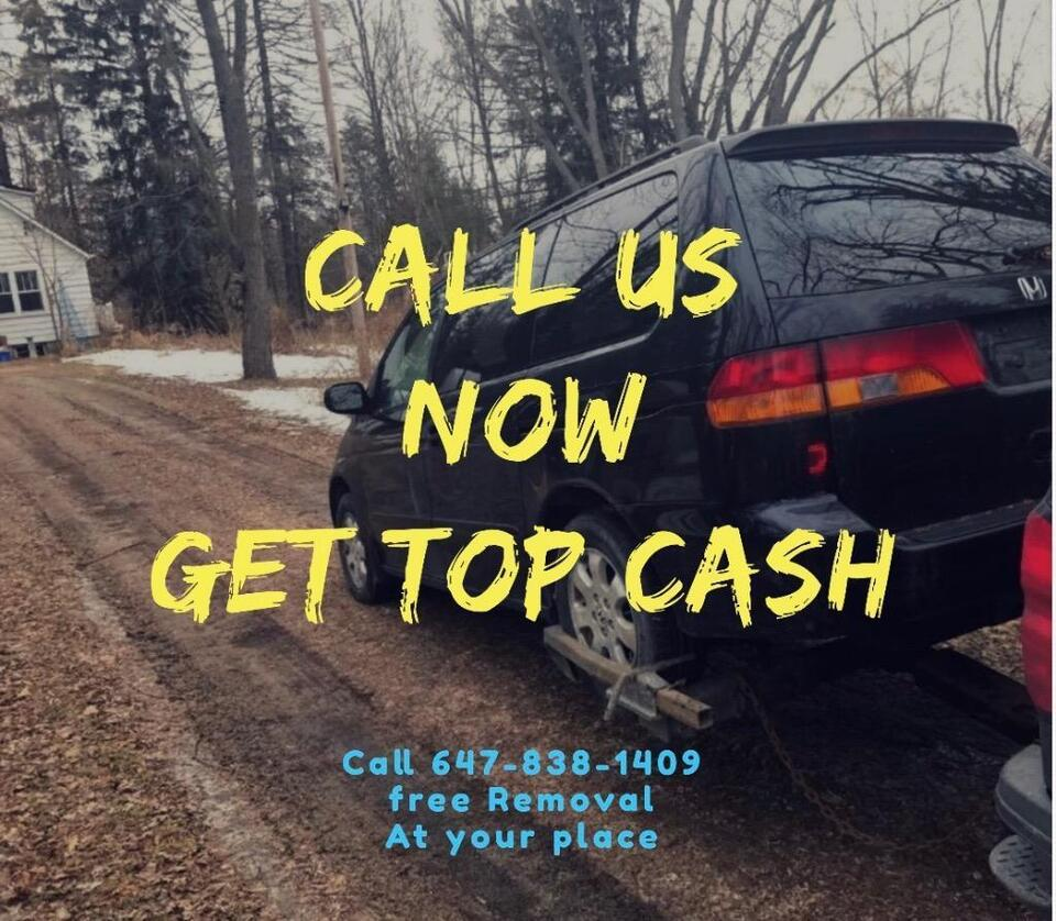 24/7 Call Us Now 647/838/1409 Top Cash for Scrap Cars-Broken Cars Up ...