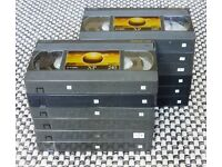 Super VHS Tapes. SVHS. S-VHS. 12 x E240. 4 hour tapes.