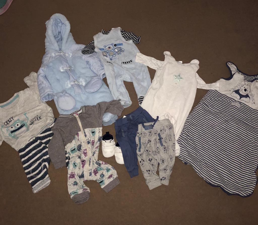 0-3 month boys clothing bundle