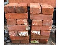 28 Suffolk Red Reclaimed Bricks £25 or £1 each