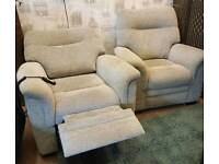 Parker knoll rise and recline armchair and matching armchair. Delivery available