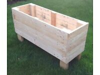 Large Wooden Raised Garden Planter   Trough   Flower Box   Container   Hand Made
