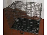 Folding Dog Crate and Fitted Cover