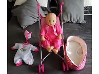 Dolly and pram £5