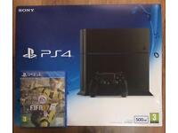 SONY PS4 console with FIFA 17