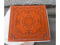 10 used genuine VINTAGE 6inch wall tiles