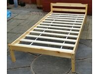 single wooden bed frame. In excellent condition.