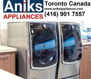 https://aniks.ca/ LG WM5000HVA-DLEX5000V Steam Washer and Dryer Pair 2699 call (416) 9017557
