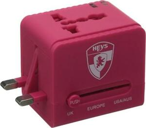 Heys America Unisex All-In-One Travel Adapter Pro with USB