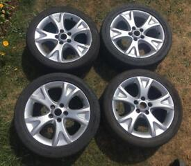 """4x ATS Alloy Wheels 17"""" ET54 with 2 very good tyres"""