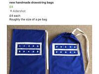 New handmade drawstring bags