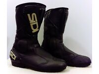 Postage Available *Sidi Black Rain Evo *Waterproof Motorcycle Boots *EU 44 UK 9.5 *RRP £179.99