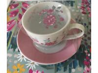New cup and saucer
