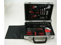 52 Piece Tool Set In Aluminium Case Garage DIY Home Tools Kit - 35225