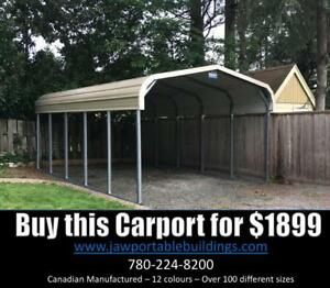 Cover your Camper or Boat! With our Portable Carports