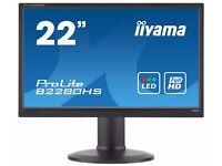 "22"" Monitor FULL HD - HDMI VGA DVI IIYAMA PROLITE B2280HS-B1 Brand New only used couple times"