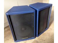 Turbosound TM1-102 PA cabinets. As new. Never gigged.