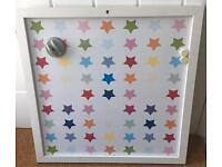 Magnetic Whiteboard Colourful Stars Background