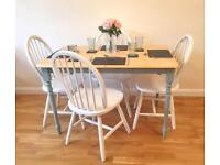 Rectangular Dining Table & 4x Chairs