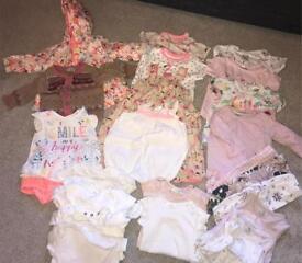 Baby girls summer clothes bundle 3-6months
