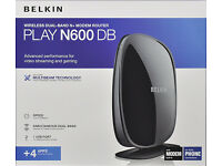 Belkin Wireless N600 Modem ADSL Router (BT Line) - Black - Unused and Boxed