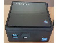 HTPC-Gigabyte Brix GB-BACE-3150 Quad Core Ultra Compact PC 120GB SSD / 8GB RAM / Windows 10 Pro
