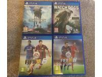 4 x PS4 games watchdogs Fifa Star Wars mint condition
