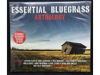 ESSENTIAL BLUEGRASS ANTHOLOGY-Double Album BRAND NEW AND SEALED