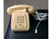 Retro Push Button Telephone in Cream, VGC,,