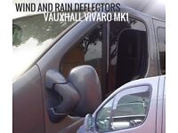 Vauxhall Vivaro MK1 2001 to 2013 SNED Wind & Rain Deflectors L-Shape Smoked Front Set 2pcs NEW