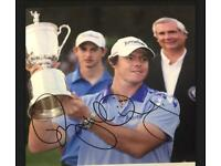 Rory Mcilroy Hand Signed Photo Cap And golf ball 2011 open winner genuine Real