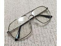 Silver Aviator Pilot Clear Lens Sunglasses