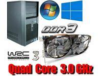 Gaming PC, QUAD CORE 3.0GHz, HD7850 GDDR5 , 6GB Ram, 320GB HD
