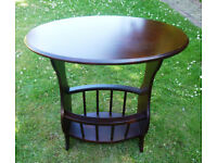 Wooden Oval Side / Hall / Telephone Table / Magazine Rack