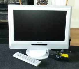 """Techwood TWD17LW1 LCD 17"""" TV with Adapter & Remote Control"""