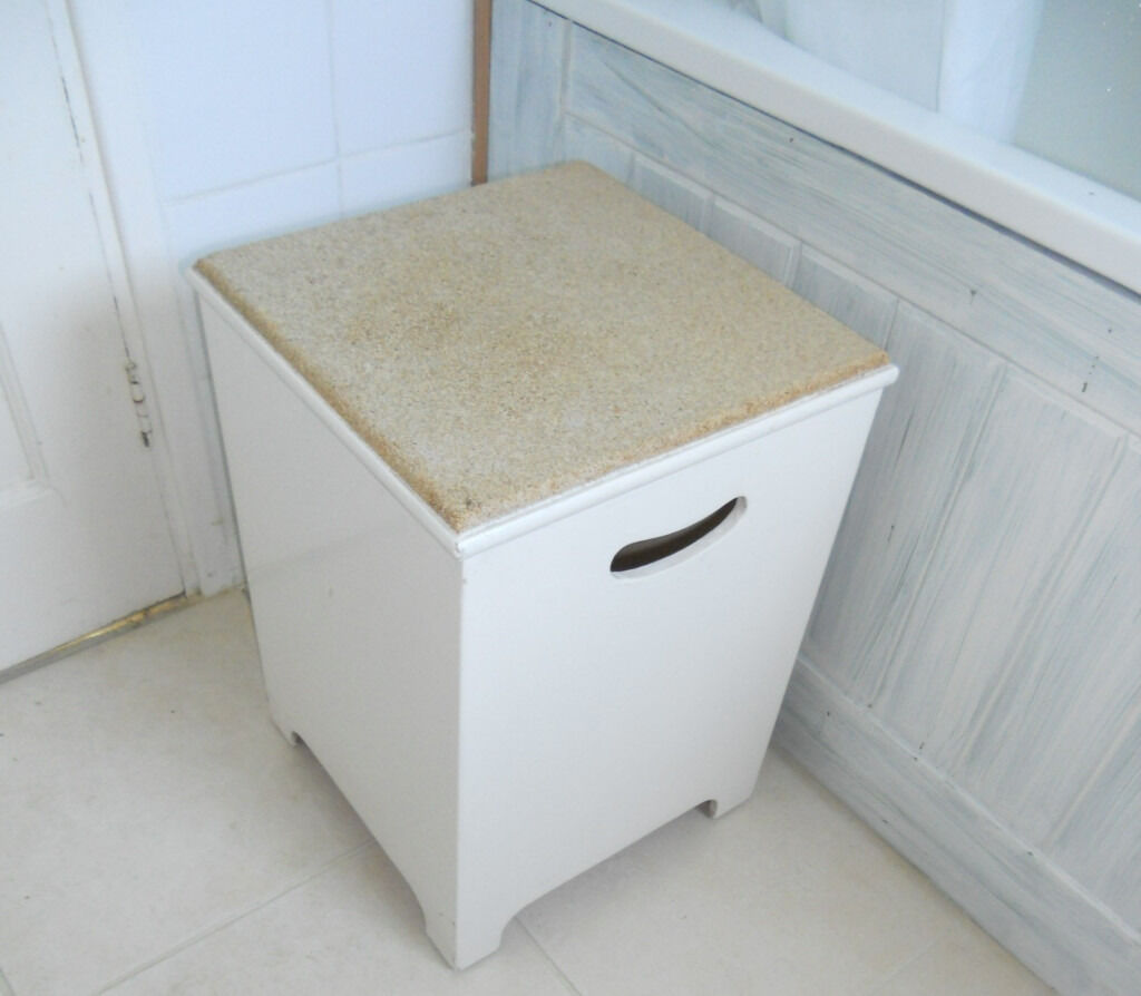 Bathroom Cork Top Seat Laundry Or Storage Box In